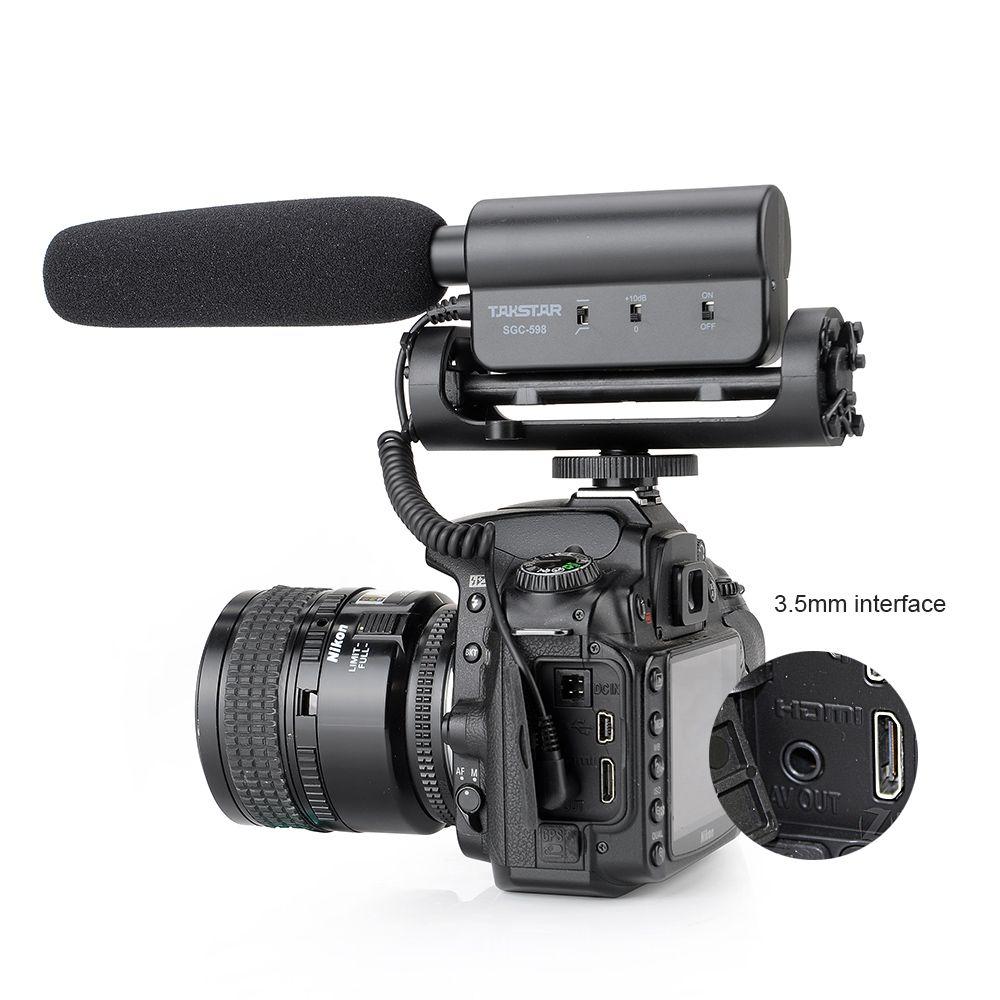TAKSTAR SGC-598 фотографии интервью лекции конференции Shotgun микрофон Микрофон для Nikon Canon DSLR камеры P0025716