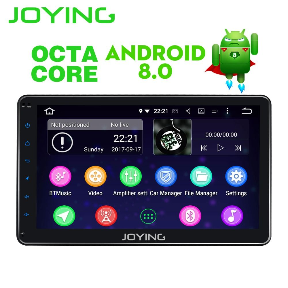JOYING 10.1'' 4GB RAM Octa 8 Core Android 8.0 head unit with video out 2din car radio stereo multimedia player
