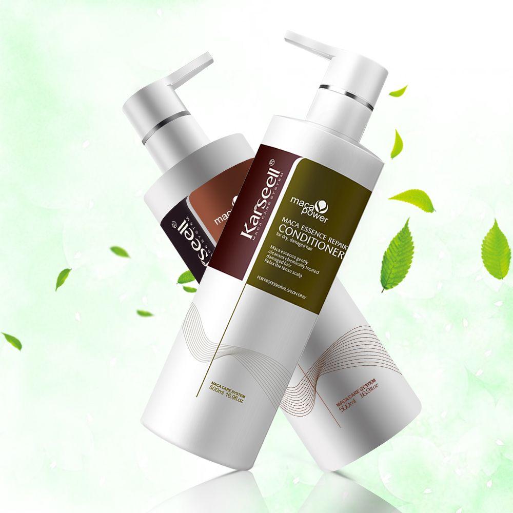 Keratin Begradigung Haar Shampoo Conditioner Set Haarpflege Behandlung Karseell Glatte Haar Reparatur Beschädigt Haar & Kopfhaut 500 ML * 2