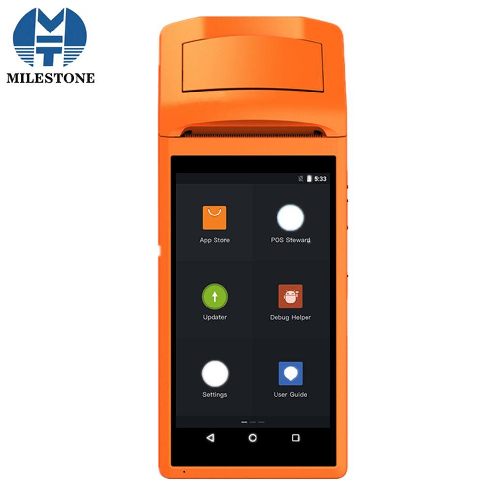 MHT-V1s Touchscreen Bletooth WIFI GPRS POS Maschine Fabrik Direkt Verkauf USB SIM Android POS-Terminal mit Drucker