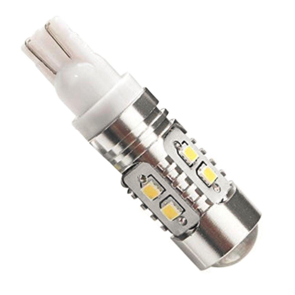 Супер яркий белый T10 W5W 50 Вт 10 SMD DRL светодиодные лампы авто Клин обратный сигнал свет лампы 194 168