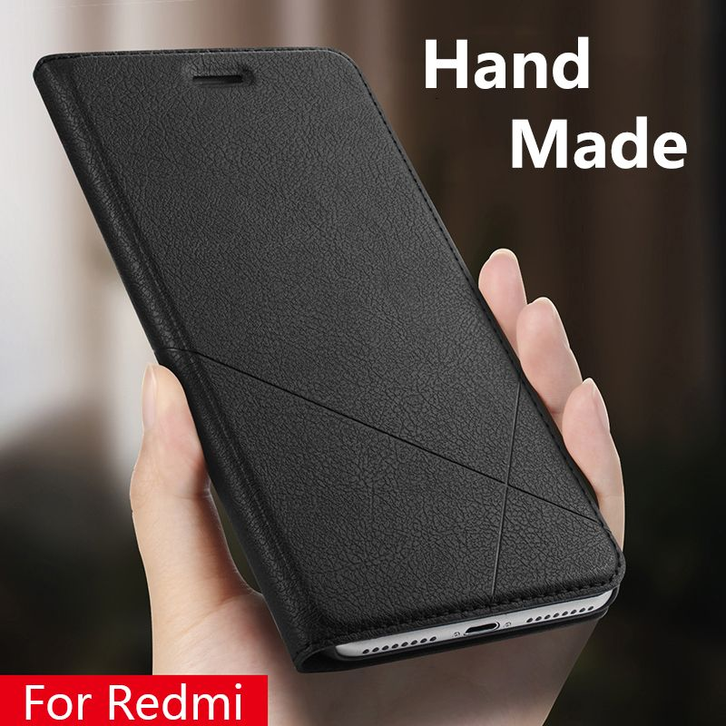 Hand Made For Xiaomi Redmi note 6 5 4x 5a Redmi 6a 6 Pro Y1 3s 4 pro 4a 5a Leather Case For Redmi 5 Plus PU Flip Cover Card Slot