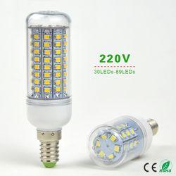 1X Portabel LED Lampu Lentera AC 200 V-240 V E14 2835 Putih/Hangat putih LED Jagung Bulb 30 36 48 56 69 89 LEDs Sorotan Lilin cahaya