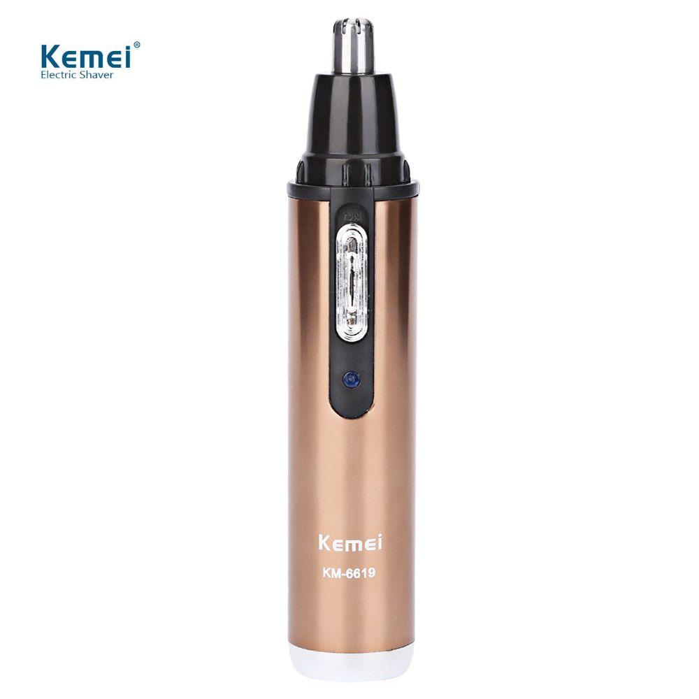 Kemei KM-6619 Électrique Rasage Nez Tondeuse À Cheveux Lavable Sûre Rechargeable Soins Du Visage Rasoir Tondeuse Pour Nez Trimère 110-240 v