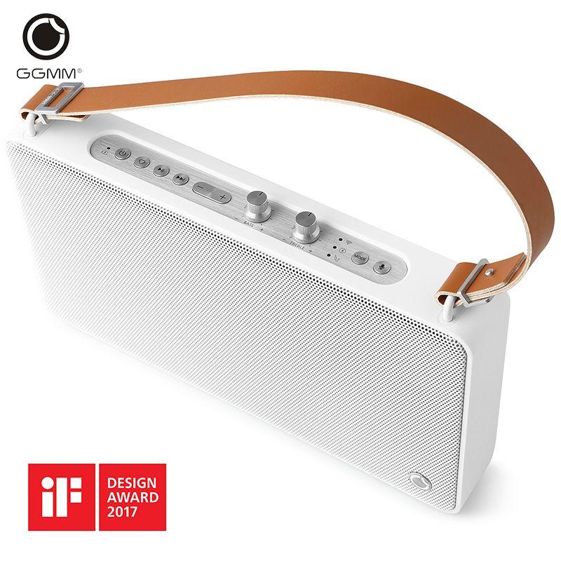 GGMM E5 Sans Fil WiFi Bluetooth Haut-Parleur Portable En Plein Air Multi-chambre DLNA HiFi Stéréo Son Mains Libres Haut-parleurs 3D Lecteur de Musique