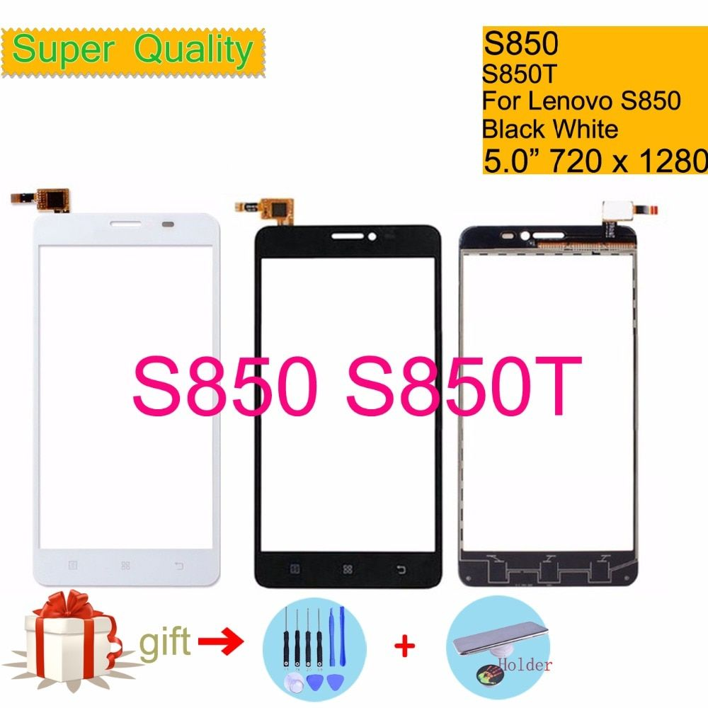 Original For Lenovo S850 S850T S 850 Touch Screen Digitizer Touch Panel Sensor Front Outer Glass Lens S850 Touchscreen 5.0