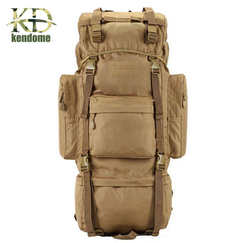 2018 Hot 70L Big Capacity Outdoor Sports Bag Military Tactical Backpack Hiking Camping Waterproof Wear-resisting Nylon Rucksack