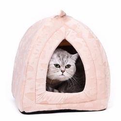 Chaud Coton Chat Grotte Maison Lit Pour Chien Pet Chien Maison Belle doux Adapté Pour Animaux de compagnie Chien Coussin Chat Lit Maison de Haute Qualité Produits