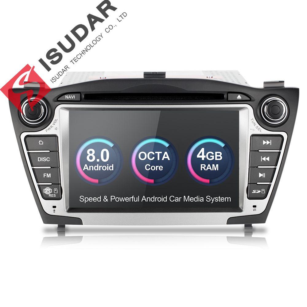 Isudar Auto Multimedia-Player GPS Android 8.0 2 Din Für Hyundai/IX35/TUCSON Canbus Radio Rückansicht Kamera Wifi mikrofon DDR3