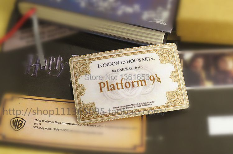 Hogwarts School of Witchcraft and Wizardry Harry potter Train tickets gift for children Nine and three quarters for tickets