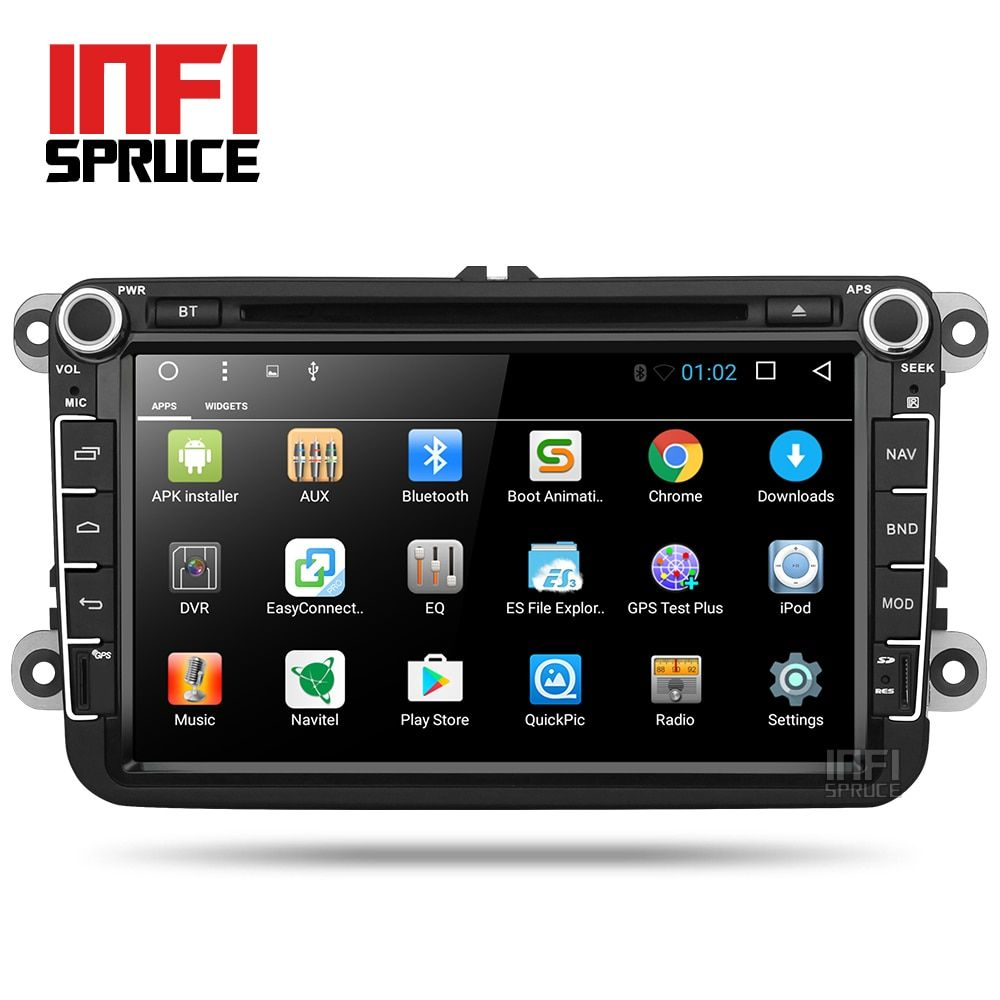 Android 7.1 Car DVD for VW Volkswagen SKODA GOLF 5 Golf 6 POLO PASSAT B7 T5 CC JETTA TIGUAN car radio gps stereo with CD play