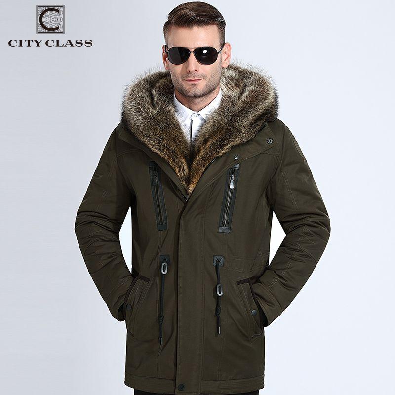 City Class Fur Winter Jackets Mens Super Warm Parkas Camel Hairs Filling with Raccoon Hood big fur winter coat thicken parka 839