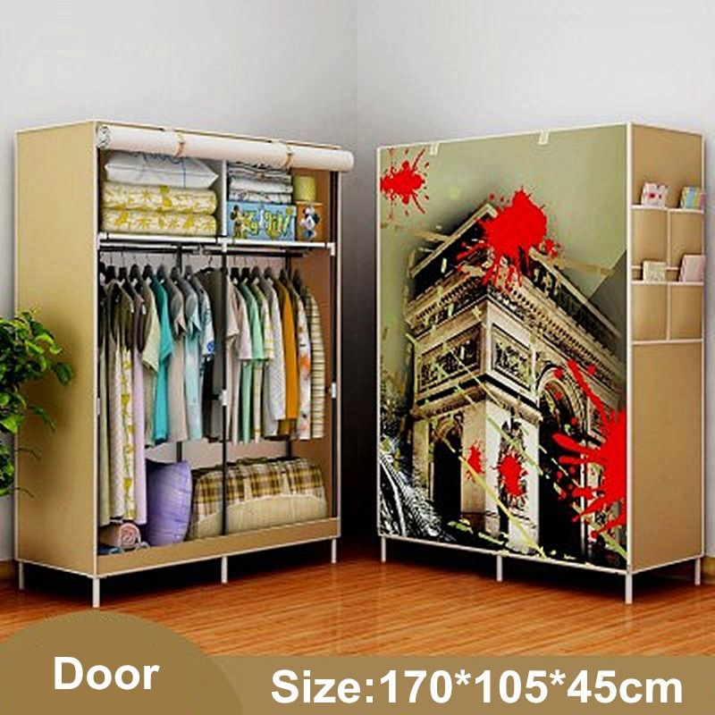 Wardrobe Closet Large Simple WardrobeWardrobe Cabinets Simple Folding Reinforcement Receive Stowed Clothes Store Content Ark