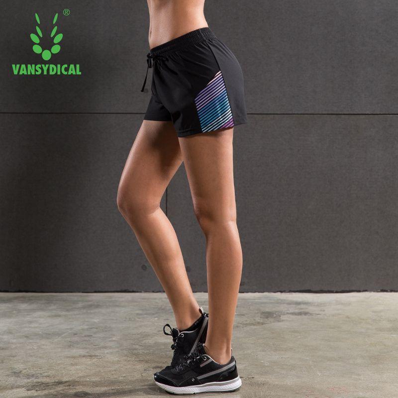 2016 Womens Running Shorts Fitness Yoga Sports Shorts Quick Dry Female Elastic Waist Training Jogging Shorts