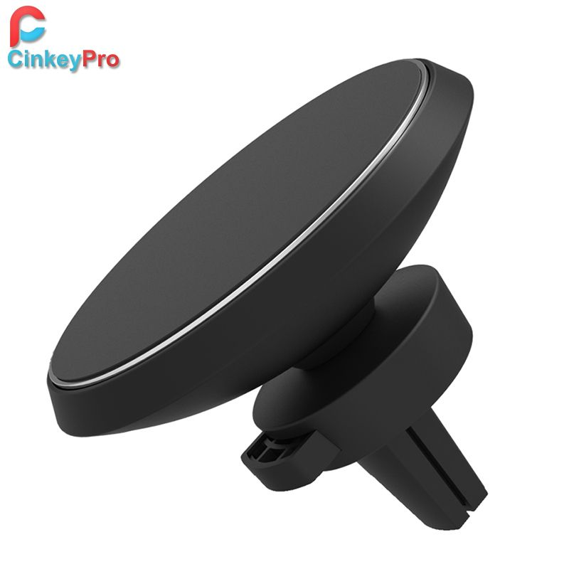 CinkeyPro Wireless Car Charger W3 Magnetic Holder for iPhone 8 X Samsung Galaxy S6 S7 S8 Plus QI Air Vent Stand 5V/1A Charging