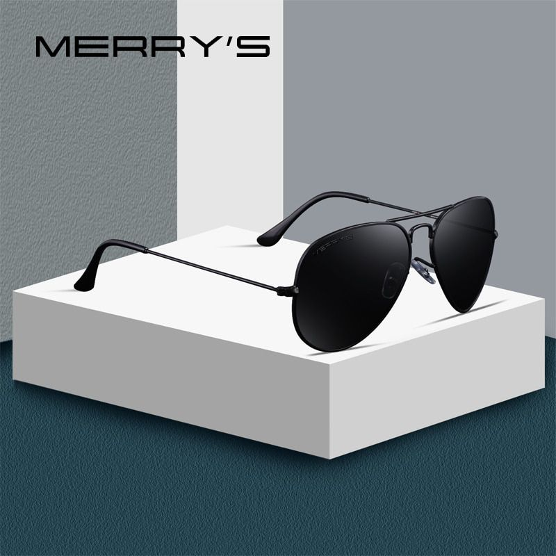 MERRY'S DESIGN Men/<font><b>Women</b></font> Classic Pilot Polarized Sunglasses 58mm UV400 Protection S'8025