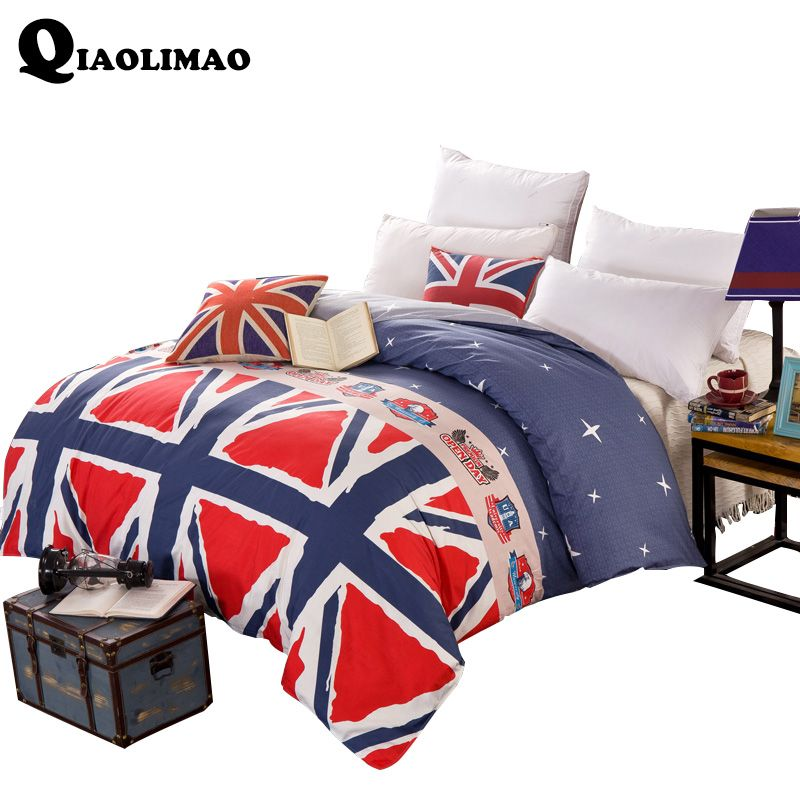 New Europe Printed 100% Cotton Duvet Cover Geometric Single Twin Double Quilt Case Queen King Size Modern Simple Comforter Cover