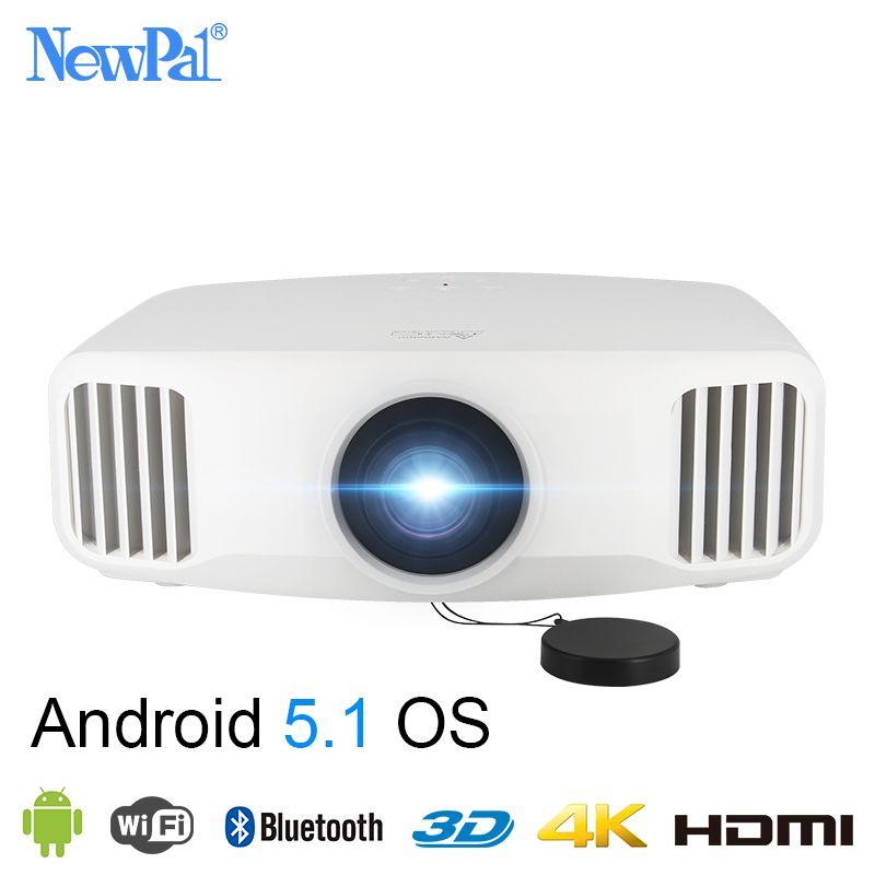 Newpal X8000 DLP Projektor 3300 Lumen Full HD Android WIFI Startseite Geschäfts Projektor 3LCD Heimkino Beamer Proyector