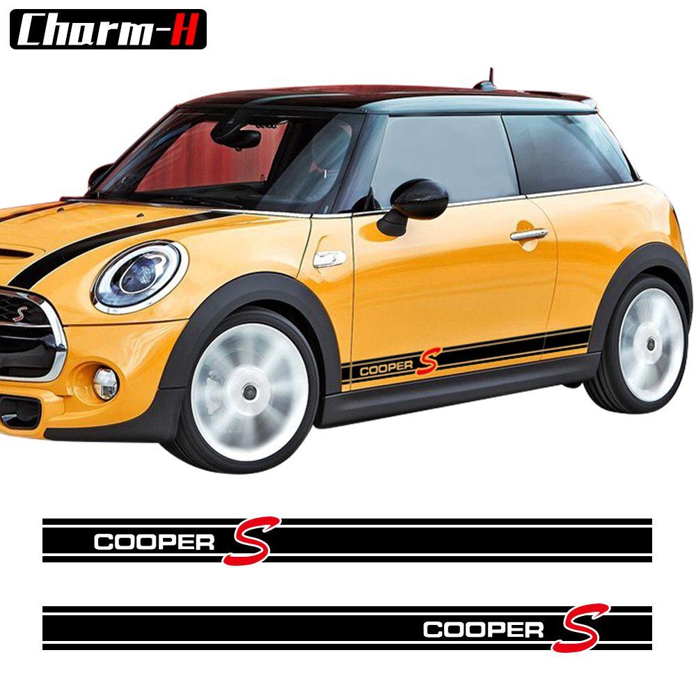 Auto Styling Side Rock Streifen Aufkleber Aufkleber für Mini Cooper S R56 R57 R58 R50 R52 R53 R59 R61 Countryman r60 F60 F55 F56 F54