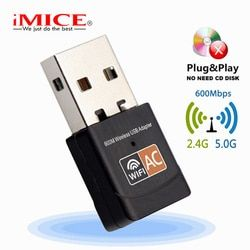 Беспроводной USB WiFi адаптер 600 Мбит/с антенна Wi-Fi PC сетевая карта двухдиапазонный wifi 5 ГГц адаптер ЛВС USB Ethernet приемник AC Wi-Fi