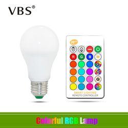 E27 Bohlam LED 5W 10W 15W RGB + Putih 16 Warna Lampu LED AC85-265V Berubah RGB Bohlam lampu dengan Remote Control + Fungsi Memori