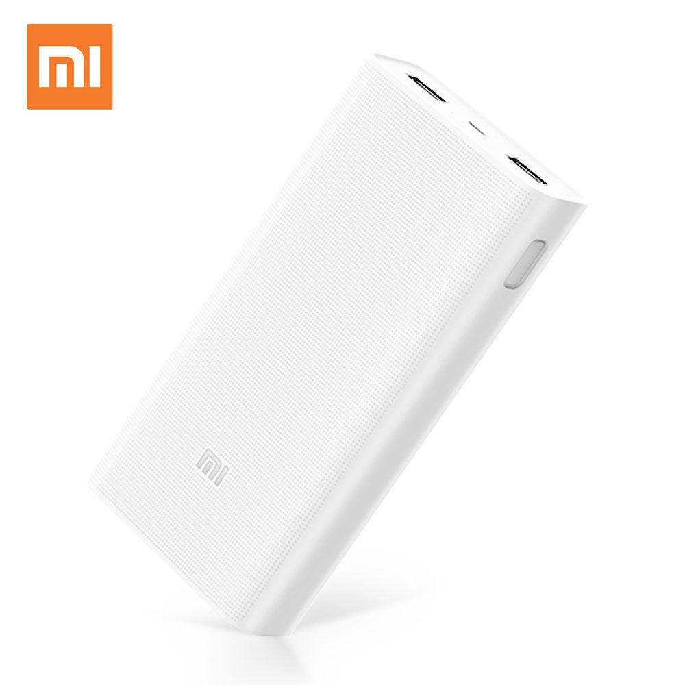 Xiao mi mi batterie externe 2C 20000 mAh Charge Rapide Externe chargeur de batterie Portable mi cro USB Portable Bateria Externe Chargeur Portable