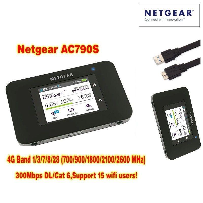 Unlocked Aircard AC790s 4G Mobile Hotspot Sierra Wireless LTE CAT6 300M Portable WiFi Router 4G modem AC790S