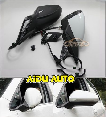 USE For VW Golf 7 MK7 VI Mirror With Cover AUTO folding electric folding Mirror Switch GLASSES Cover 5GG