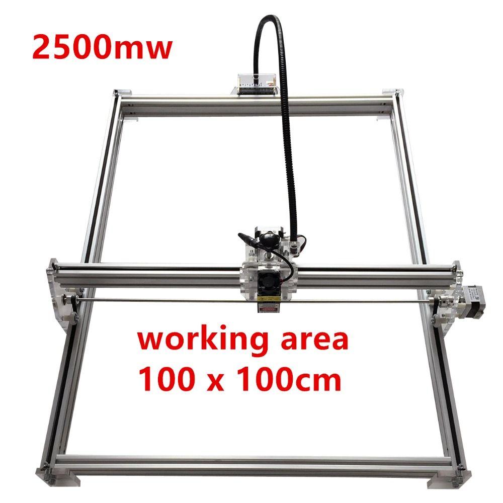 2500 mw Mini desktop DIY Laser gravur stecher schneiden maschine Laser Radierer CNC druck bild von 100*100 cm großen arbeits bereich
