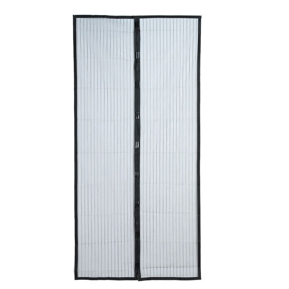 Door Curtain Black Magnetic Clasp Anti-mosquito Door & Window Mesh Screens Summer Prevent Mosquito Curtain Convenient Practical