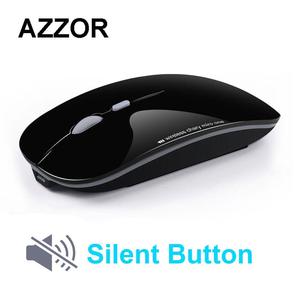 AZZOR N5 souris sans fil Rechargeable silencieuse souris optique USB muet 2.4 GHz souris Super mince pour ordinateur PC tablette