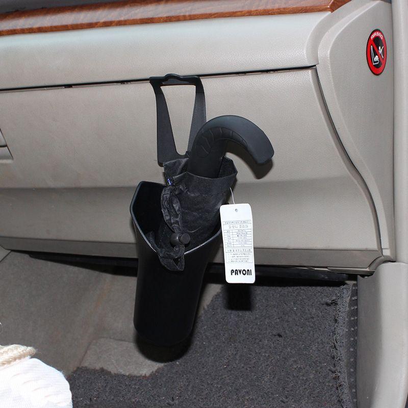 Автомобиль-Стайлинг Черный Автомобиль Многофункциональный зонтик держатель мусор ствола Многофункциональный органайзер для зонтик автом...
