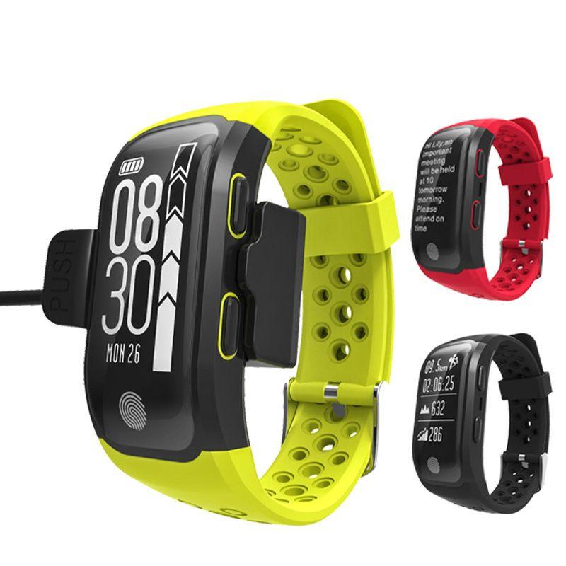 OGEDA Men Fitness Smart Watch Dynamic Heart Rate IP68 Waterproof GPS Smart Wristwatch Bracelet Tracker Smart Clock Watches S908