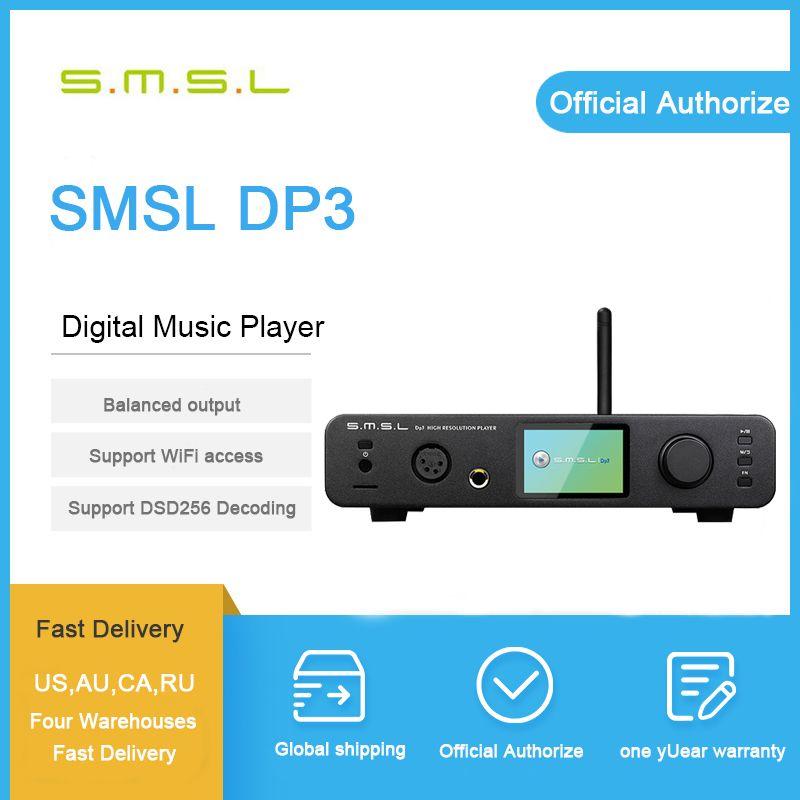 SMSL DP3 DSD DAC Audio Verstärker Hifi Bluetooth DAC USB Verstärker Audio Decoder Ausgewogene Kopfhörer Verstärker-Player Verstärker