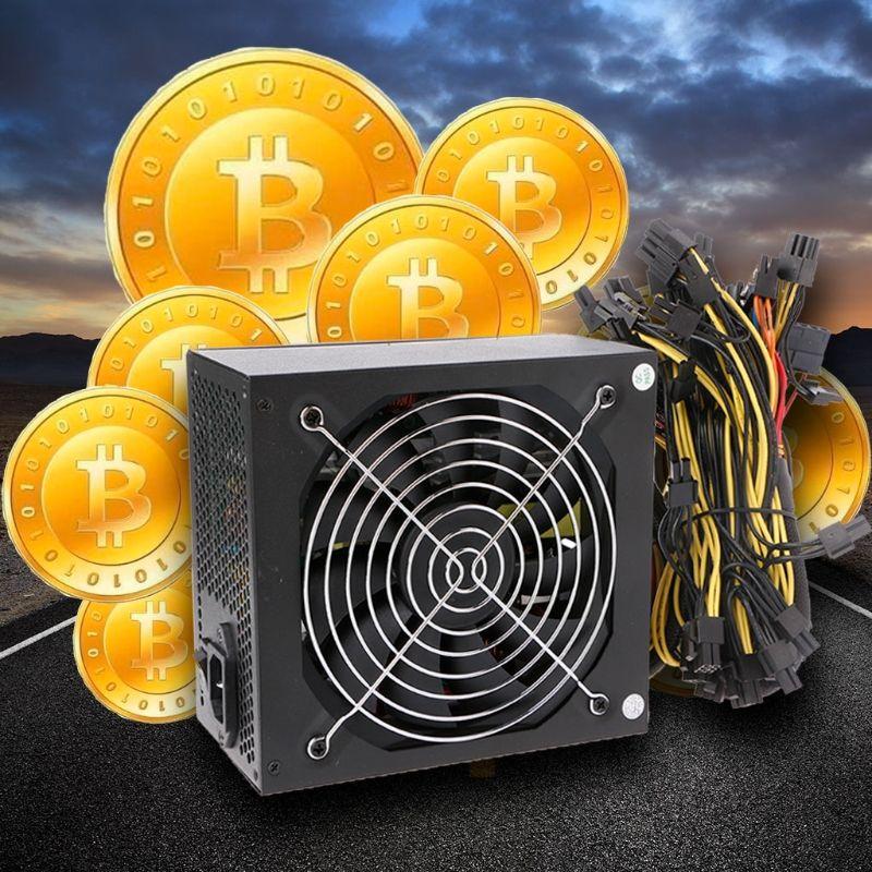1600 watt Computer ATX Netzteil 14 cm Fan Set Für Eth Rig Ethereum Münze Miner EU Stecker
