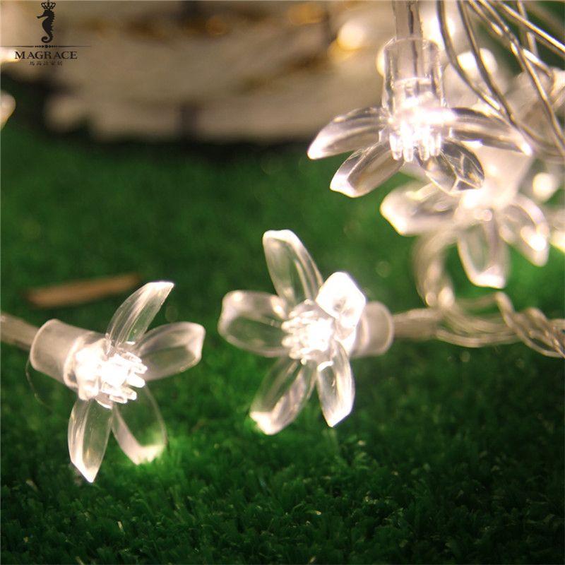 Frigga Cherry Peach Blossom Flower LED Fariy String Light 10M 100LED Outdoor Christmas New Year festival Birthday Party Decor