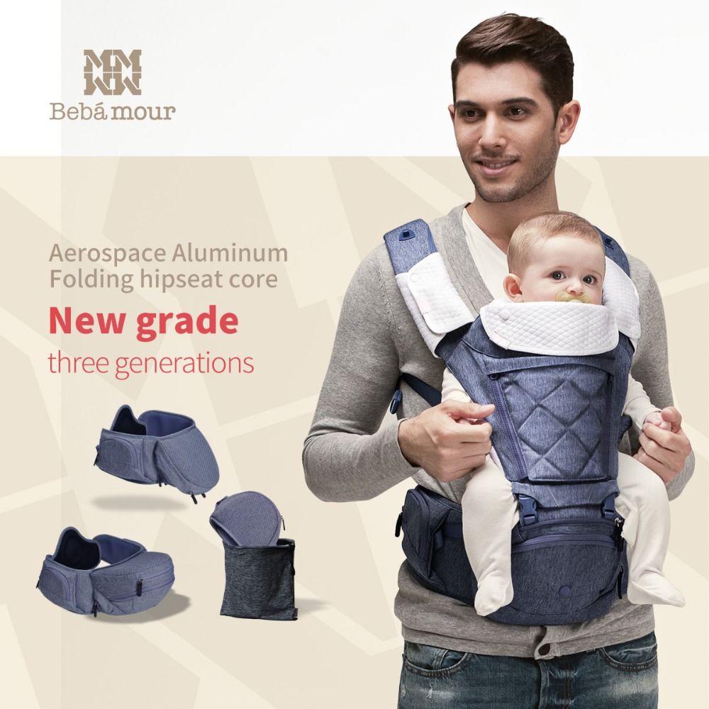 Bebamour Baby Träger Atmungsaktive Baby Hipseat Rucksack Ergonomische Träger 360 Multifunktionale Baby Wrap Slings für Babys