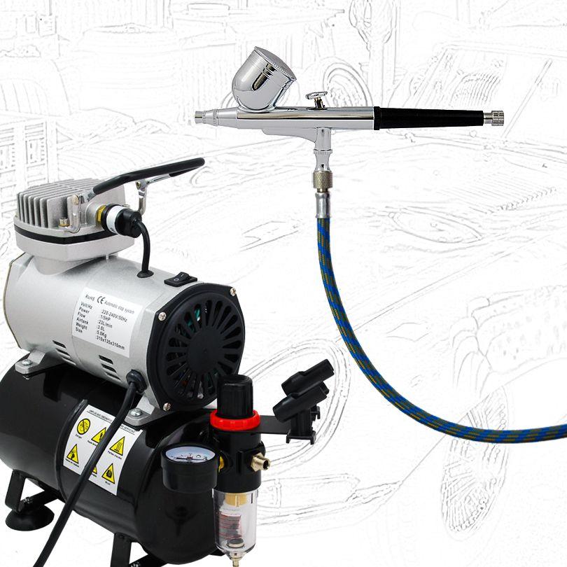 Haute qualité économie airbrush ABK-130-T compresseur d'air Kit peinture corporelle tatouages temporaires 220 V