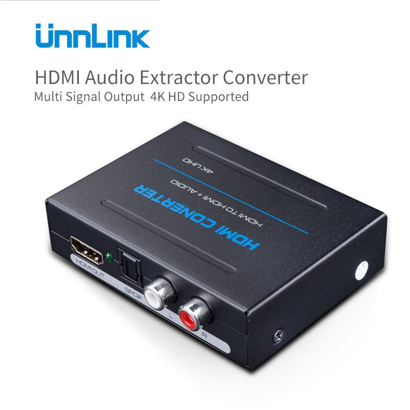 Unnlink HDMI Audio <font><b>Extractor</b></font> Converter HDMI to HDMI Optical Toslink RCA L/R Adapter 1080P/4K Stereo Analog 5.1 Spdif Splitter