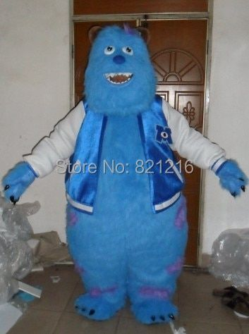 Monsters University Sulley Mascot Head Costume School Mascots Cartoon Character Costumes Costumes For Kids Party