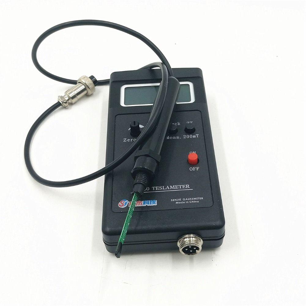 SJ200 Digitale Gauss Meter Statische Magnetfeld Tesla Tester 0-200Mt-2000mT mit Adapter