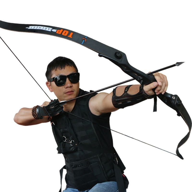 56inch 30-50lbs Archery Recurve Bow Metal Riser Hunting Shooting Bow Black Training Takedown Bow Free Shipping