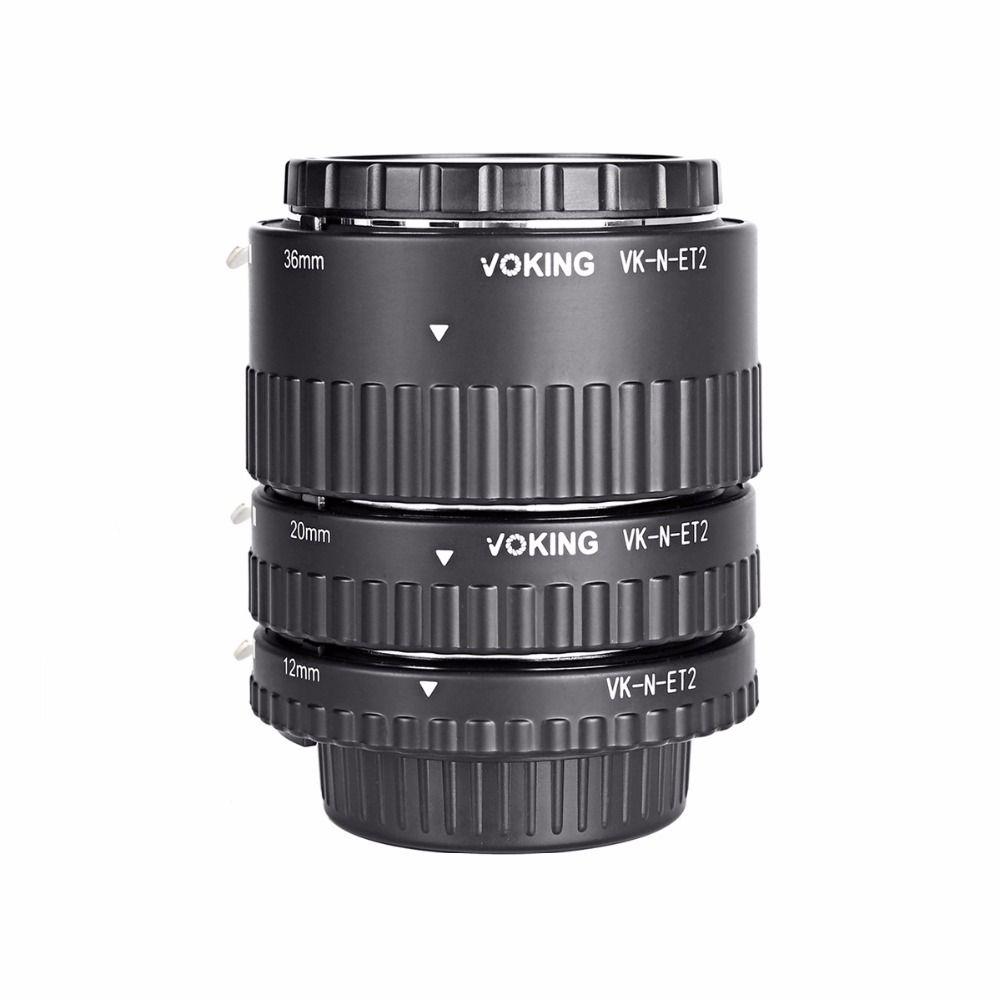 Voking Macro Auto Focus Extension <font><b>tube</b></font> Ring VK-N-ET2 for Nikon D7100 D5200 D3100 D800 D90 D800E D5100 D7000 D3100 DSLR Cameras