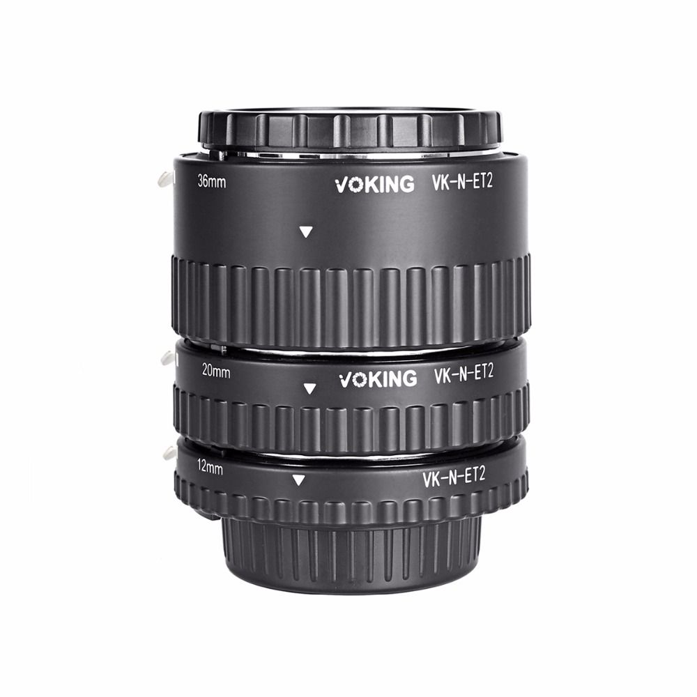Voking Macro Auto Focus tube Extension Ring VK-N-ET2 pour Nikon D7100 D5200 D3100 D800 D90 D800E D5100 D7000 D3100 DSLR caméras