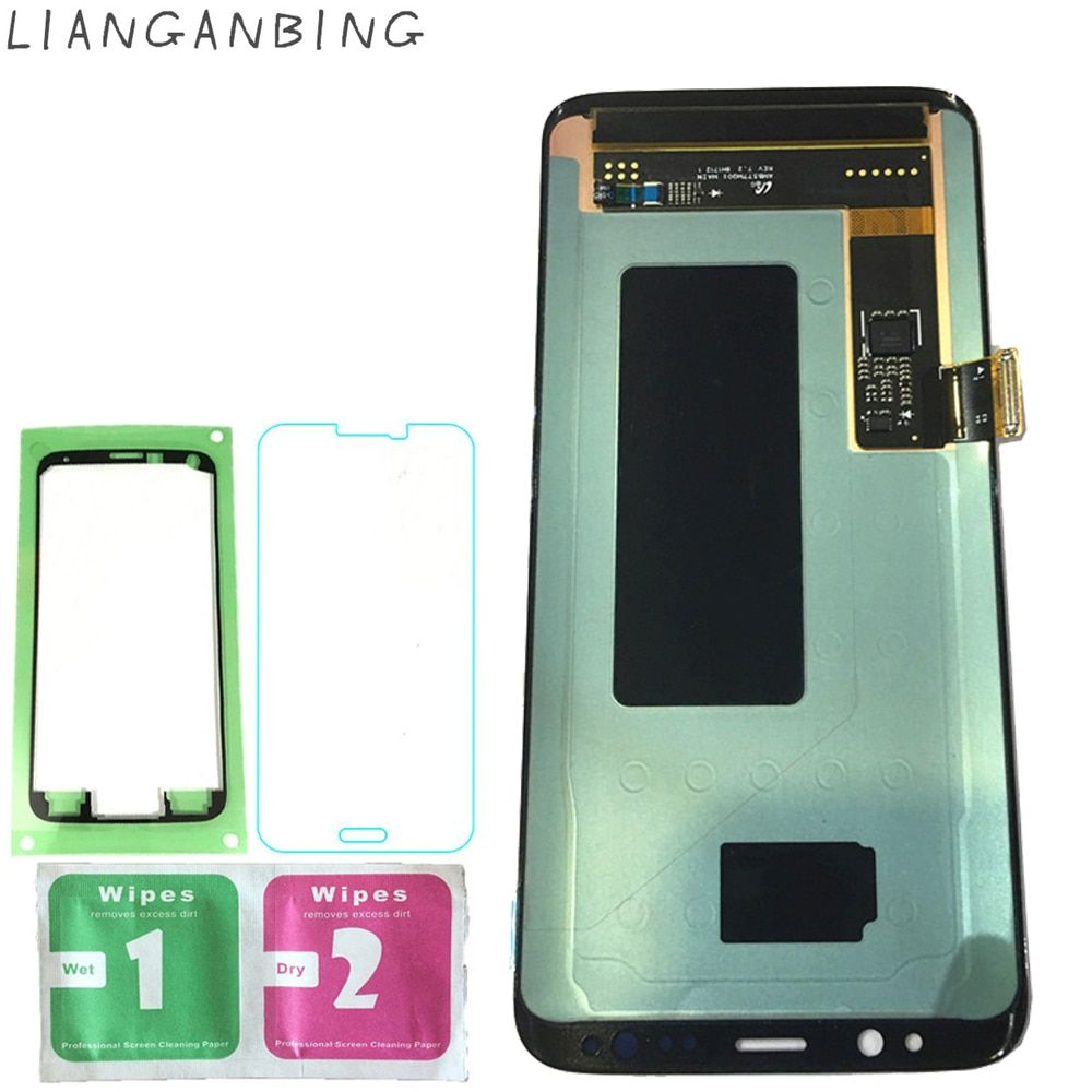 New Super AMOLED LCD S8 G950F G950FD G9500 G950U Display 100% Tested Working Touch Screen Assembly For Samsung Galaxy s8