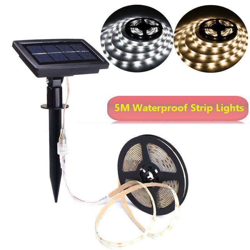 Super Bright 2835 LED Strip Light Solar Powered LED Lights Flexible Solar String Waterproof Auto ON/OFF Festival Christmas Decor