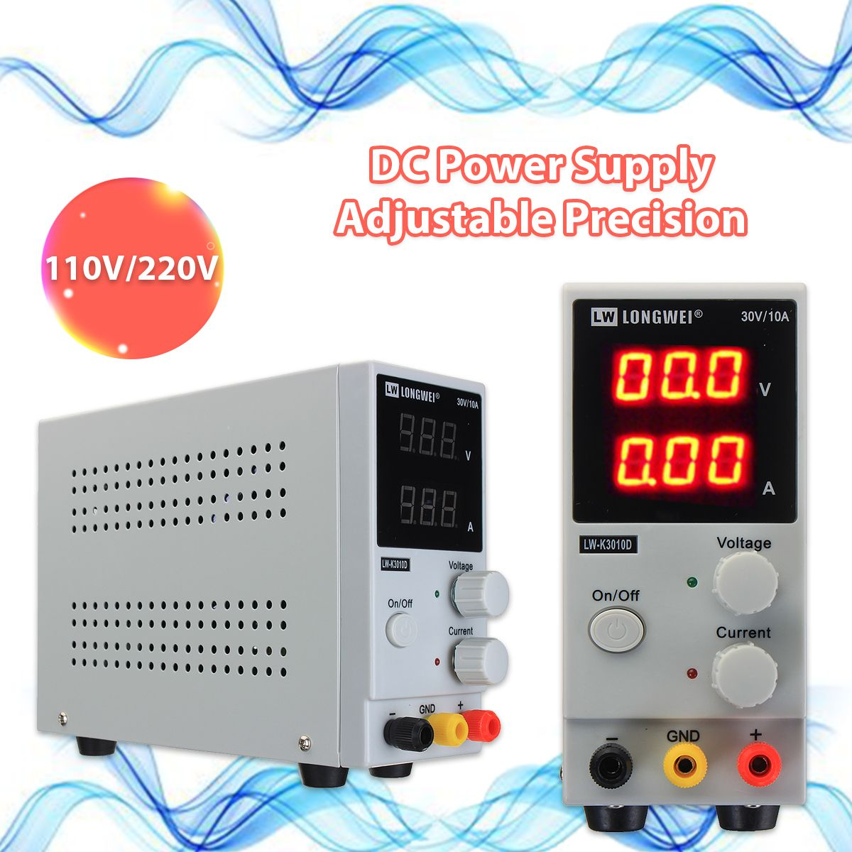 0-10A 0-30V 220V LCD DC Power Supply Variable Adjustable Switching Regulated Power Supply Digital Laboratory Voltage Regulator