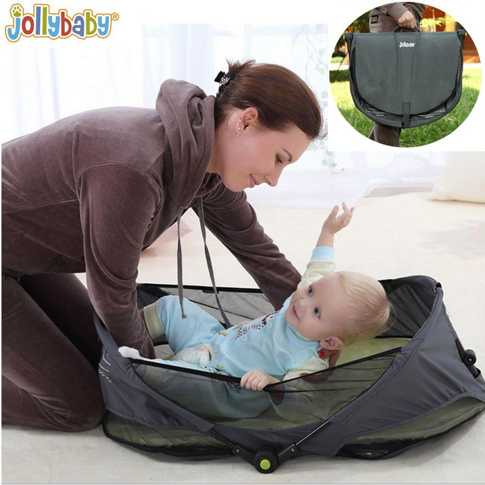 1 шт. JOLLYBABY brica Портативный складной путешествия люльки детская кровать детская кроватка кровать на ходу детская кровать