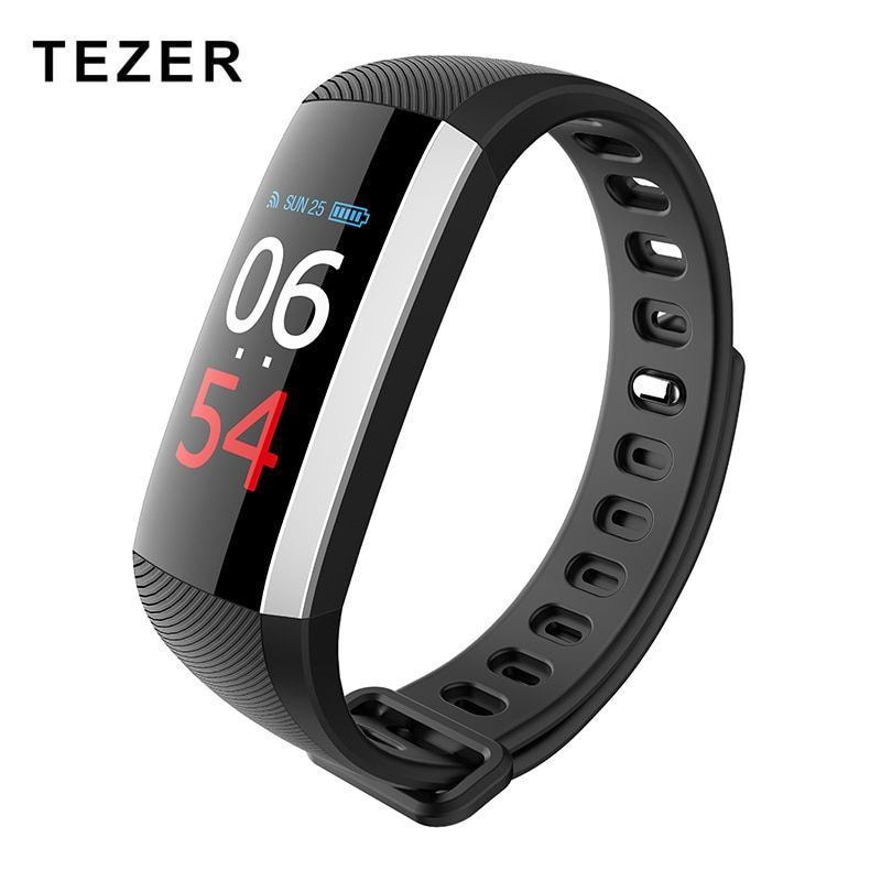TEZER R19 Color LCD OLED Screen Smart band Blood Pressure Heart Rate Monitor Fitness Tracker Blood Oxygen Bracelet message push