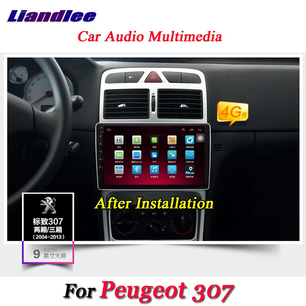 Liandlee Auto Android System Für Peugeot 307 2001 ~ 2014 Radio GPS Navi KARTE Navigation Wifi BT HD Screen Multimedia KEINE DVD-Player